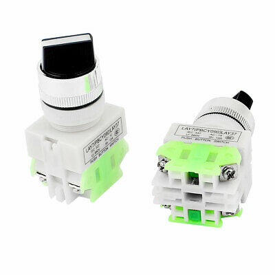 AC 660V 10A 4 Terminals 3 Positions Rotary Selector Switch 2Pcs