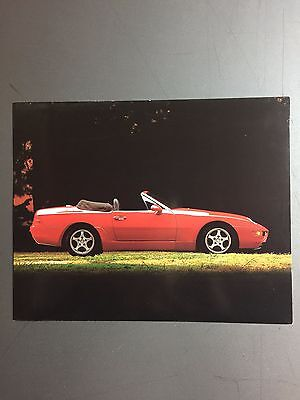 "1992 Porsche 968 Cabriolet Factory issued Press Photo ""Werkfoto"" RARE!! Awesome"