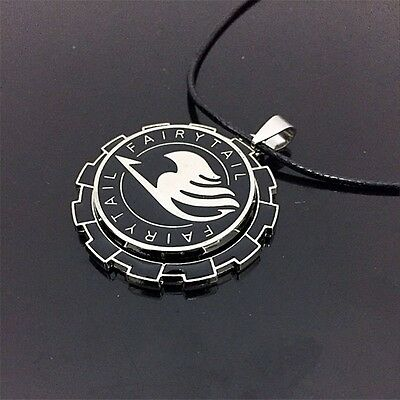 "Anime Fairy Tail Guild Metal 2"" Pendant Necklace Chain Loose Pack Cosplay"