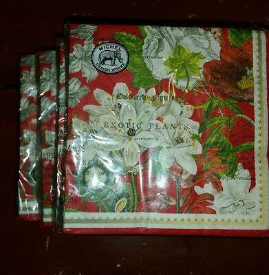 New package of Michel Design Works 20 WHITE CHRISTMAS Beverage Napkins FREE SHIP