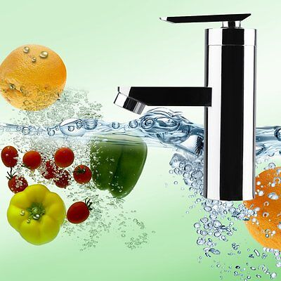 Brushed Chrome Waterfall Bathroom Basin Faucet Single Handle Sink Mixer Tap FE