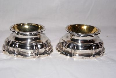 Pair of Baroque 18th Century  Silver Salt / Spice - Bowls, Germany / Überlingen