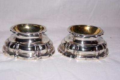 Pair of Baroque / 18thC Silver Salt / Spice - Bowls, Germany / Überlingen