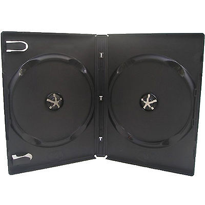 CD DVD 14mm Black DVD Double Case for 2 Disc 1 5 10 25 50 100 200