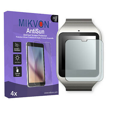 4x Mikvon AntiSun Screen Protector for Sony SmartWatch 3 Retail Package