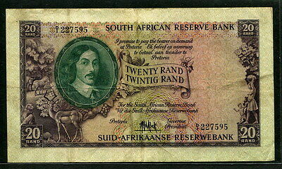 South Africa 1961, 20 Rand, 227595, P108, VF