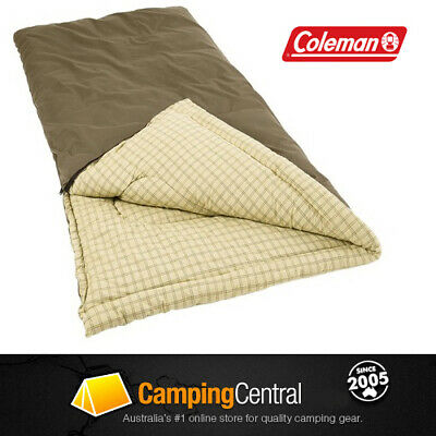 COLEMAN BIG GAME COTTON CANVAS -6Cel. MEGA SLEEPING BAG (210 x 100cm) + PILLOW