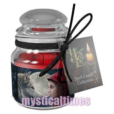 New * Love Spell Candle * Lisa Parker  Rose Scented Jar Candle From Nemesis Now