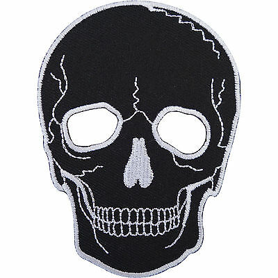 Biker Patch Embroidered Skull Mask Sew On / Iron On Badge for Clothes Bag Jacket