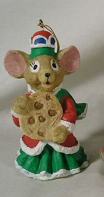 Christmas Around World, House of Lloyd Mice Mouse Ornament Chocolate Chip Cookie