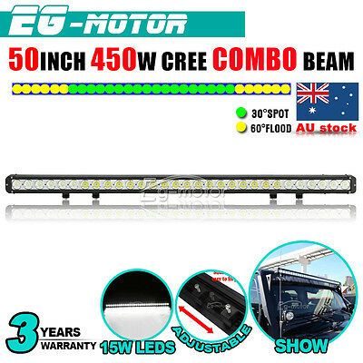 "50""Inch 450W CREE LED WORK Light Bar Flood Spot Combo Offroad LAMP 4WD SUV 120W"