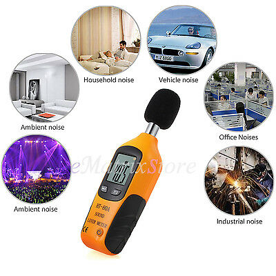 Digital LCD Sound Level Meter 30-130DB Pressure Decibel Noise Measure Tester