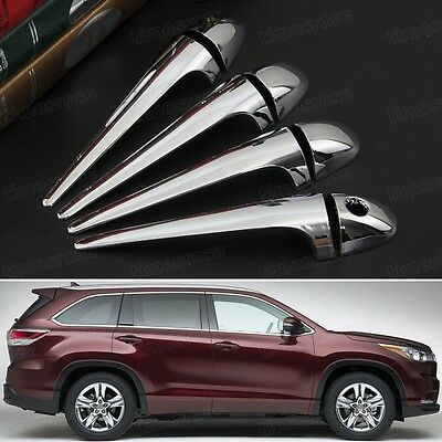 8 x Chrome Outer Side Car Door Handle Trim Fit for Toyota Highlander 2015