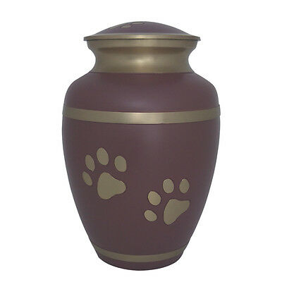 Urn for Pet Ashes, Rochford Paw Prints Pink Cremation Urn
