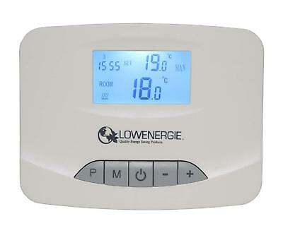 Digital Wireless Programmable Room Thermostat RF Stat 7 Day Heating Timer Energy