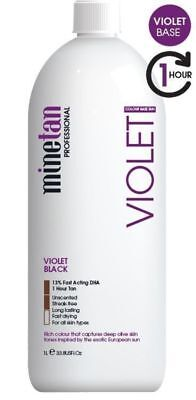Mine Tan Pro Solution Violet Black 13% DHA 1 Litre Spray Tanning Mist