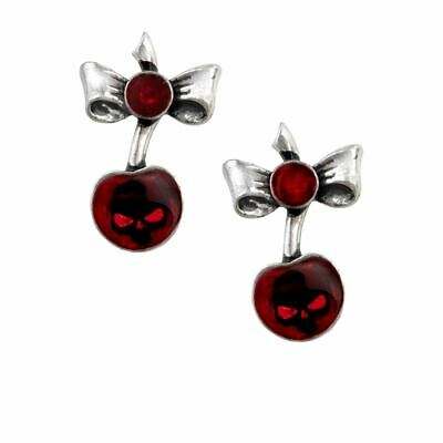 Alchemy UL17 Black Cherry Pewter Pair of Earrings BRAND NEW