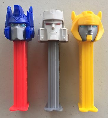 PEZ - Transformers - Set of 3 - Mint