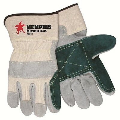 Memphis Glove 16012 Dozen Large Sidekick Gloves Double Select Leather Palm Cuff