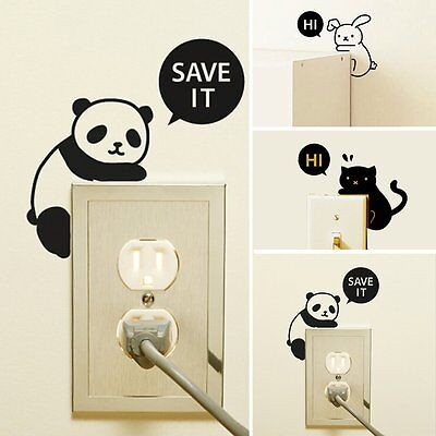 Cute Removable Home Office Light Switch Funny Wall Decal Vinyl Wall Stickers