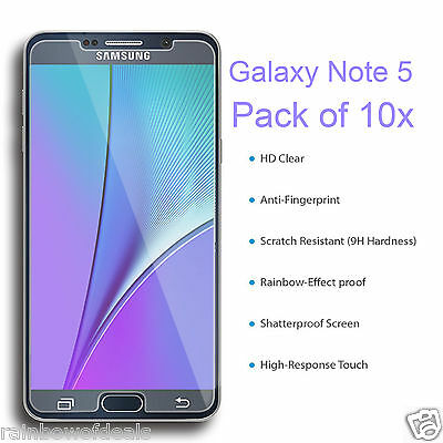 New Premium Real Tempered Glass Film Screen Protector For Samsung Galaxy Note 5
