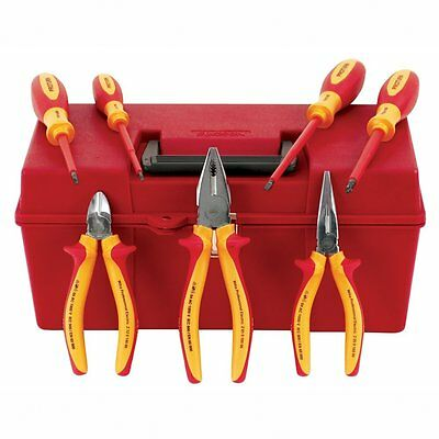 Wiha 32899 7-Piece Proturn Insulated Pliers and Screwdriver Set in Case