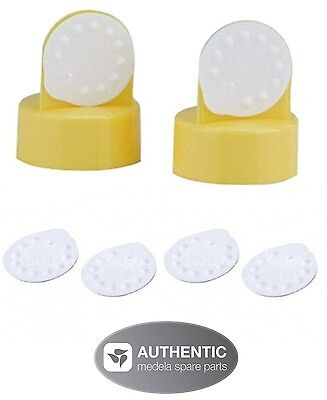 MEDELA REPLACEMENT MEMBRANES & VALVES  Authentic NEW! 6 membranes & 2 valves