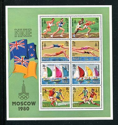 Niue 1980 Olympic Games MS MNH