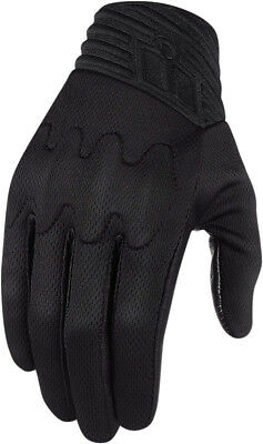 Icon Anthem Street Motorcycle Riding Gloves Stealth Mens All Sizes