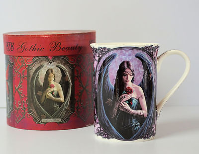 Angel Rose Mug by Anne Stokes Fine China Collectable with Gift Box