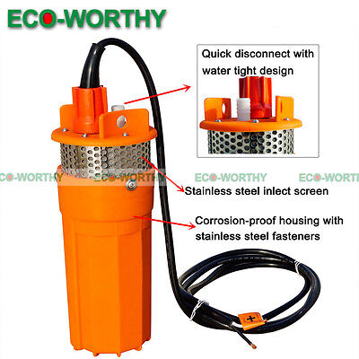 24V Submersible Deep DC Solar Well Water Pump for Watering Irrigation Outdoor