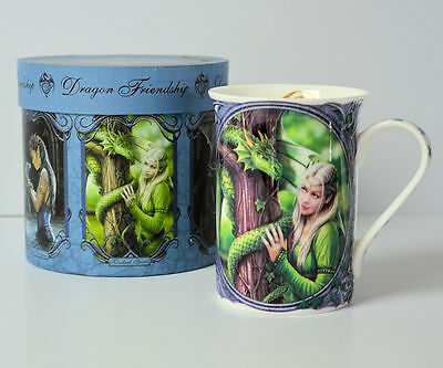 Green Dragon Friendship Mug by Anne Stokes Fine China Collectable with Gift Box