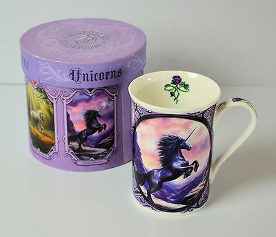 Black Unicorn Mug by Anne Stokes Fine China Collectable with Gift Box