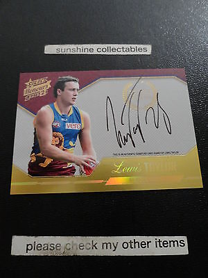 2015 Afl Honours 2 Certified Signatures Card Scs2 Lewis Taylor 132/400