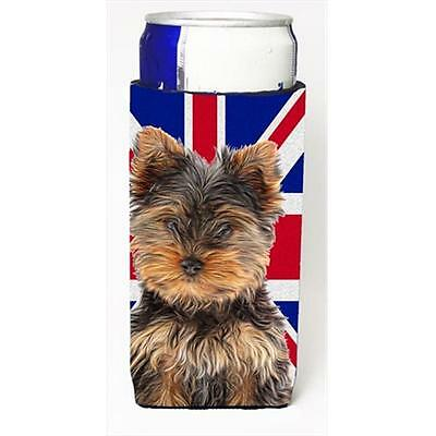 Yorkie Puppy & Yorkshire Terrier with English Union Jack British Flag Michelo...