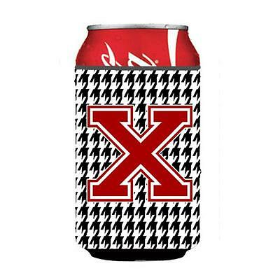Carolines Treasures CJ1021-XCC Monogram Houndstooth Can Or Bottle Hugger