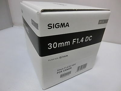 Brand NEW  Sigma 30mm F1.4 DC HSM  / Art Black Lens for Canon EF Mount Cameras