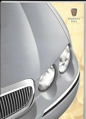 Rover 75 Prestige Sales Brochure Including Options And Colours 1999 Brochures