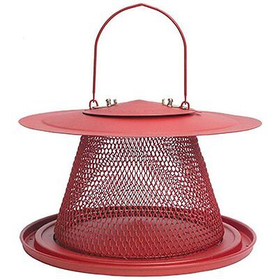 No/No Red Cardinal Bird Feeder, Metal, Holds 2.5lbs Seeds NEW FREE SHIPPING