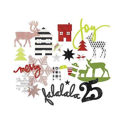 Christmas Heidi Swapp Chipboard Shapes Diecut Oh What Fun American Crafts