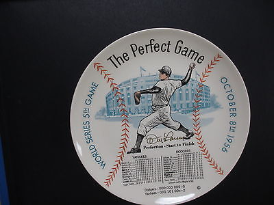"""1956 New York Yankee Autographed Don Larsen World Series Perfect Game 10"""" Plate"""