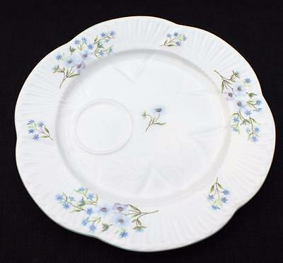 "Vntg SHELLEY Bone China England Dainty BLUE ROCK Pattern #13591 8""d Snack Plate"
