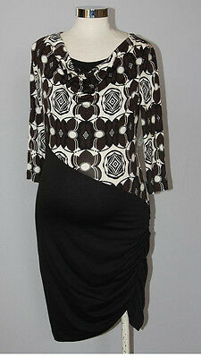 New JAPANESE WEEKEND MATERNITY Clothes Nursing Colorblock Career Dress S 6/8