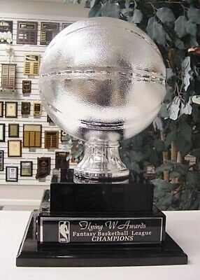 2 TIER LARGE FANTASY BASEBALL PERPETUAL AWARD 20 YEARS TOP OF THE LINE SILVER