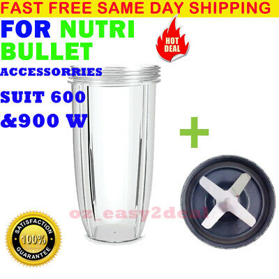 NUTRIBULLET Colossal CUP (32oz) + Extractor Blade -SUITS 600/900W Nutri Bullet