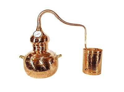 Alembic Copper Still 20 Litres-Alcohol,Hydrosol Distiller With Thermometer