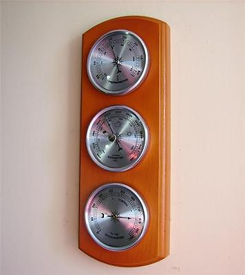 Weather Forecast Station Barometer Thermometer Hygrometer Silver Dials Quality