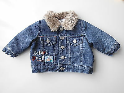 Cute Pumpkin Patch baby denim jacket size 00 Fits 3-6 mths Great condition