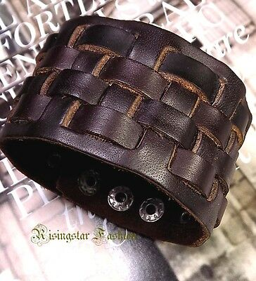 Men's Cool Roman Gladiator Hip Hop Characters Leather Bracelet Wristband