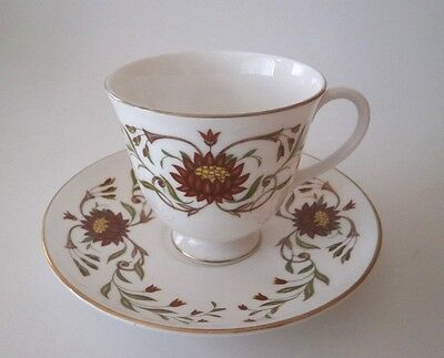 Vintage Beautiful Wedgwood England Susie Cooper Mariposa Cup & Saucer